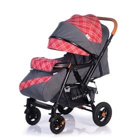 Прогулочная коляска с перекидной ручкой Sense Plus, цвет серый с красным