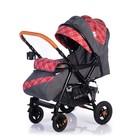 Прогулочная коляска с перекидной ручкой Sense Plus, цвет серый с красным - Фото 2