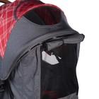 Прогулочная коляска с перекидной ручкой Sense Plus, цвет серый с красным - Фото 11