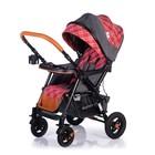 Прогулочная коляска с перекидной ручкой Sense Plus, цвет серый с красным - Фото 4