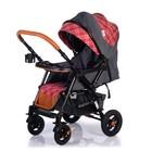 Прогулочная коляска с перекидной ручкой Sense Plus, цвет серый с красным - Фото 5