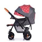 Прогулочная коляска с перекидной ручкой Sense Plus, цвет серый с красным - Фото 8