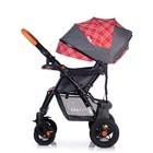 Прогулочная коляска с перекидной ручкой Sense Plus, цвет серый с красным - Фото 9
