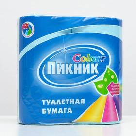 Туалетная бумага «Пикник Колор», 2 слоя, 4 рулона
