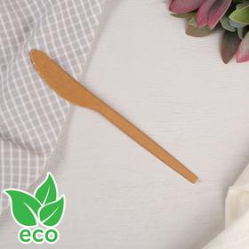 Нож 16,8 см, древесное волокно, 6 шт/уп, цвет от золотисто-охристого до коричневого Ош