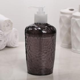 Дозатор для жидкого мыла Natural stone, 350 мл, цвет чёрный прозрачный