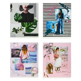 Тетрадь 48 листов в клетку GreenwichLine Your dreams, обложка мелованный картон, матовая ламинация, выборочный УФ-лак, блок 70 г/м2, МИКС