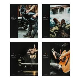 Тетрадь 48 листов в клетку Greenwich Line For Men, обложка мелованный картон, твин-лакирование, блок 70 г/м2
