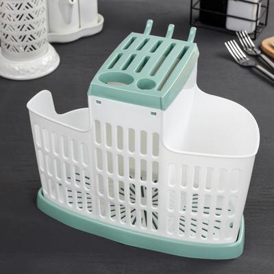 Органайзер для кухни, цвет фисташковый - Фото 1