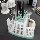 Органайзер для кухни, цвет фисташковый - Фото 3