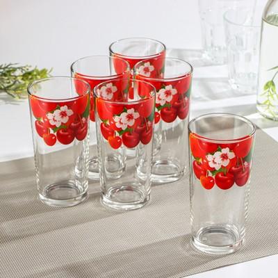 Набор стаканов «Лето», 230 мл, 6 шт, рисунок МИКС