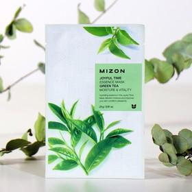 Тканевая маска для лица с экстрактом зелёного чая MIZON Joyful Time Essence Mask Green Tea, 23 г