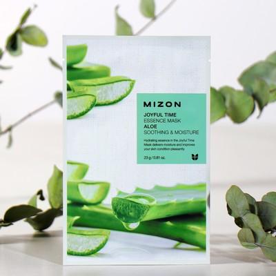 Тканевая маска для лица с экстрактом сока алоэ MIZON Joyful Time Essence Mask Aloe, 23 г