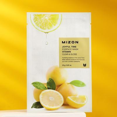 Тканевая маска для лица с витамином С MIZON Joyful Time Essence Mask Vitamin C, 23 г