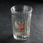 Стакан гранёный «Герб России», 250 мл