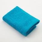 Полотенце махровое «Экономь и Я» 30х30 см, цвет бирюза