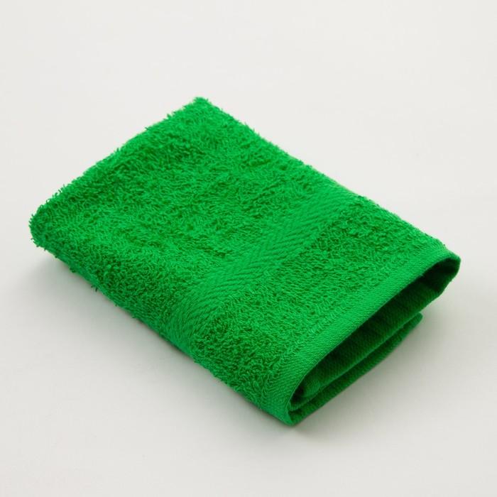 Полотенце махровое «Экономь и Я» 30х30 см, цвет зелёный
