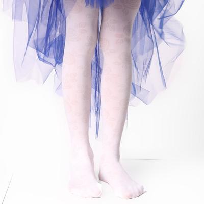 Колготки детские ЭРА «Розы», цвет белый, рост 146-152 (10-12 лет) - Фото 1
