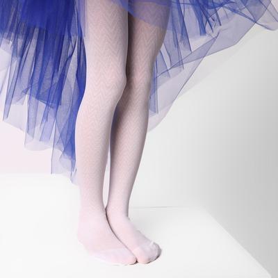Колготки детские ЭРА «Галочки», цвет белый, рост 128-134 (6-8 лет) - Фото 1