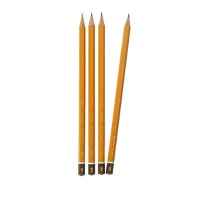 Набор чернографитных карандашей 4 штуки Koh-I-Noor, профессиональные 1500 H8 лакированный корпус (3098864)