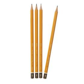 Набор чернографитных карандашей 4 штуки Koh-I-Noor, профессиональные 1500 H10, заточенные (2334231)