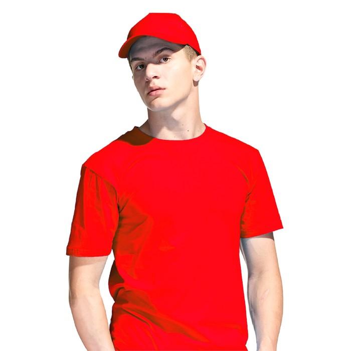 Бейсболка, размер 56-58, цвет красный