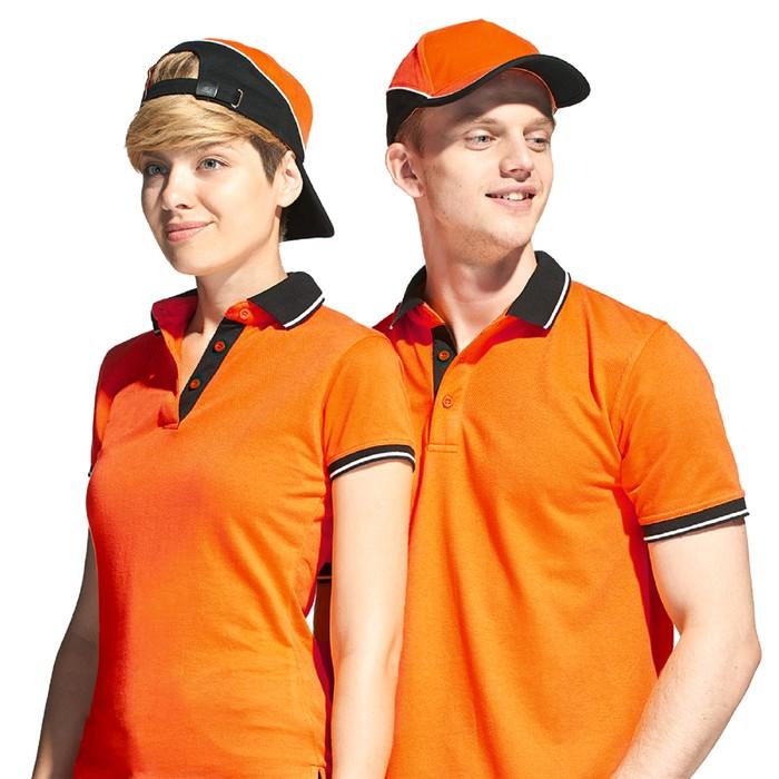 Бейсболка, размер 56-58, цвет оранжевый