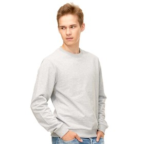 Толстовка унисекс, размер 48, цвет серый меланж Ош
