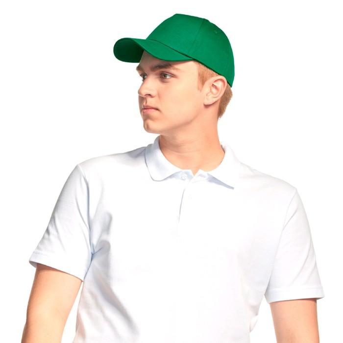 Бейсболка, размер 56-58, цвет зелёный