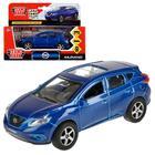 Машина металлическая, инерционная «Nissan Murano» синяя, 12 см, открывающиеся двери