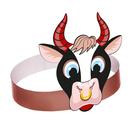 Маска-ободок «Бычок с кольцом», картон