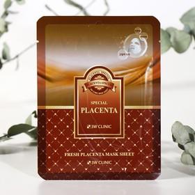 Тканевая маска для лица с экстрактом плаценты 3W CLINIC Fresh Placenta Mask Sheet, 23 г