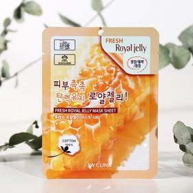 Тканевая маска для лица с маточным молочком 3W CLINIC Fresh Royal Jelly Mask Sheet, 23 г