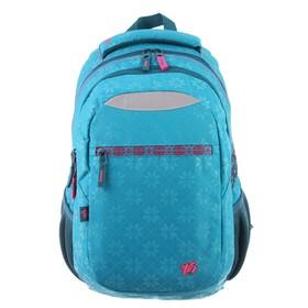 Рюкзак молодежный с эргономичной спинкой Yes T-23, 47 х 30 х 14, для девочки EThnika, голубой