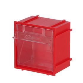 Короб откидной Стелла Single – 102 красный/прозрачный Ош