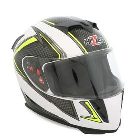 Шлем HIZER J5311, размер XL, белый/серый/желтый Ош