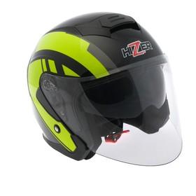 Шлем HIZER J222, размер S, черны/желтый Ош