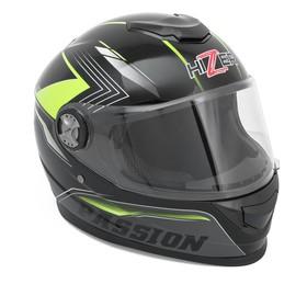 Шлем HIZER B565, размер XL, черный/желтый Ош