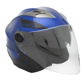 Шлем HIZER B208,размер L, синий/черный Ош