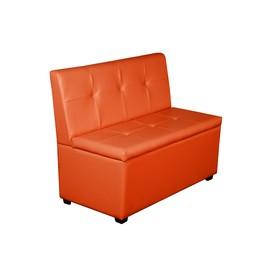 Кухонный диван 'Уют-1', 1000x550x830, оранжевый Ош