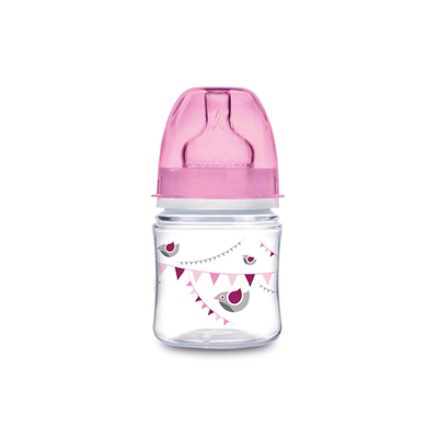 Бутылочка для кормления Canpol babies EasyStart, In the clouds, от 0 месяцев, цвет розовый, 120 мл - Фото 1