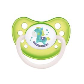 Пустышка латексная Canpol babies Toys, анатомическая, от 0-6 месяцев, цвет МИКС