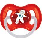 Пустышка латексная Canpol babies Space, круглая, от 6-18 месяцев, цвет красный