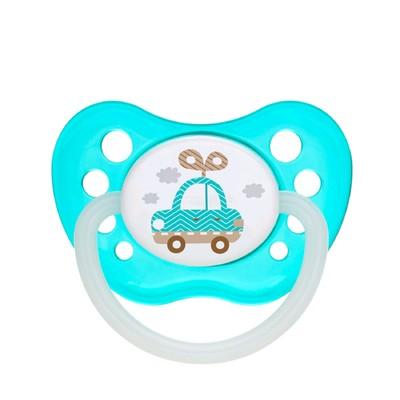 Пустышка силиконовая Canpol babies Toys, ортодонтическая, от 0-6 месяцев, цвет бирюзовый