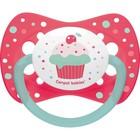 Пустышка силиконовая Canpol babies Cupcake, симметричная, от 6-18 месяцев, цвет розовый - Фото 1