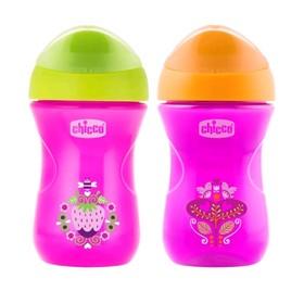 Чашка-поильник Chicco Easy Cup, от 12 месяцев, цвет розовый, 266 мл