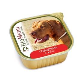 Влажный корм BioMenu для собак, лакомство говядина в желе, 150 г