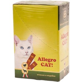 Колбаски B&B Allegro Dog для кошек, ягненок/индейка, 60 шт