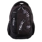 Рюкзак школьный с эргономичной спинкой Kite 855, 40 х 30 х 17.5, чёрный