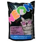 Наполнитель силикагелевый NEON Litter комкующийся, фиолетовый, 1.81 кг